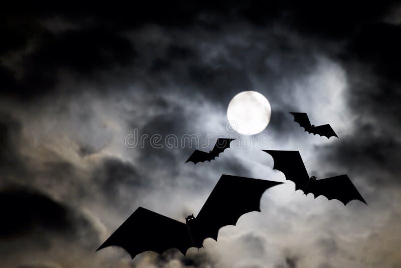 Lune de Veille de la toussaint illustration stock