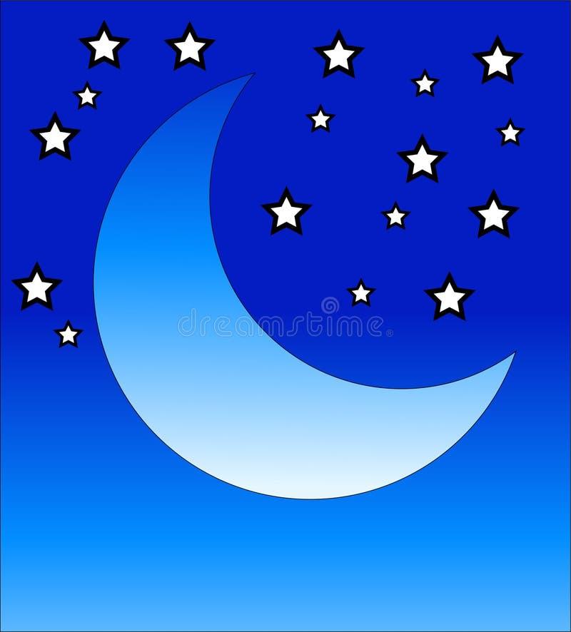 Lune en croissant 2 illustration de vecteur