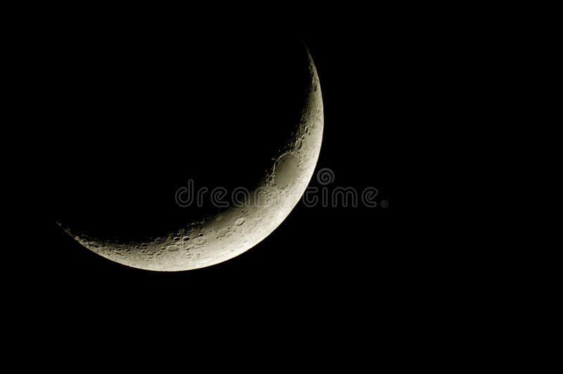 Lune en croissant photo stock