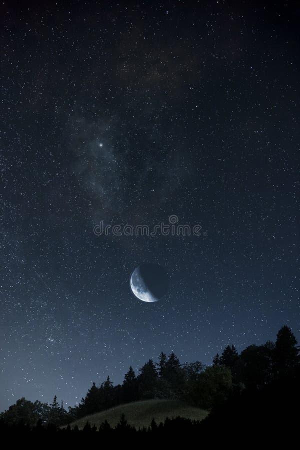 Lune et étoiles photos stock
