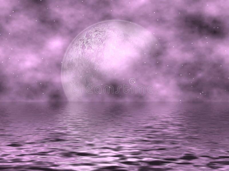 Lune et eau de lavande illustration de vecteur