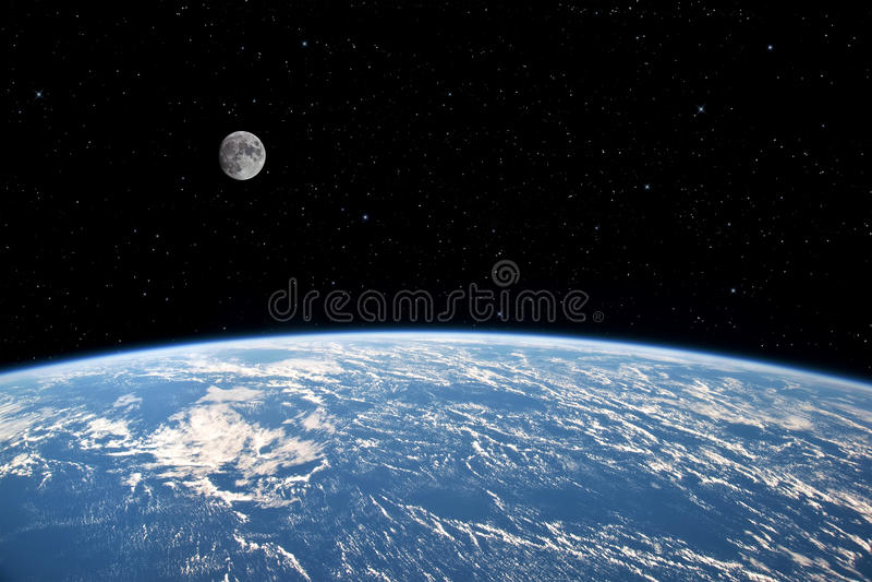 Lune et terre. photos stock