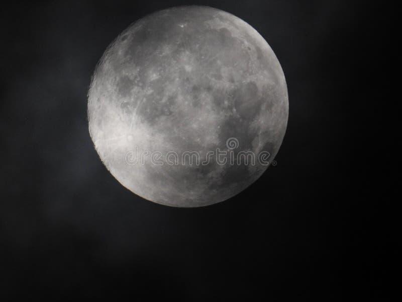 Lune la nuit photographie stock