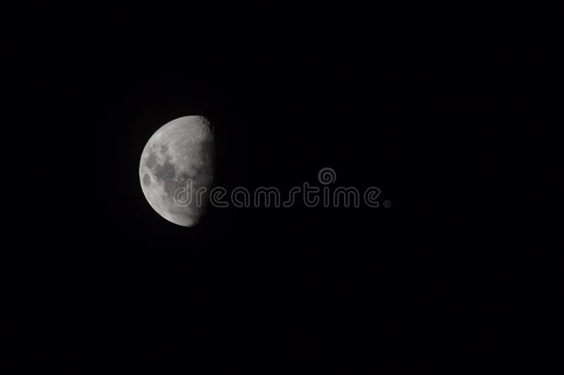 Lune loin photographie stock