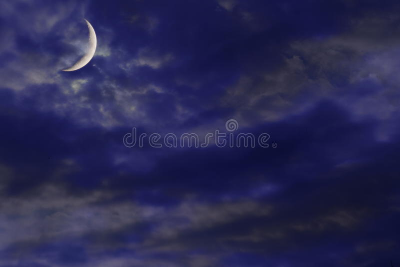 Lune neuve image libre de droits