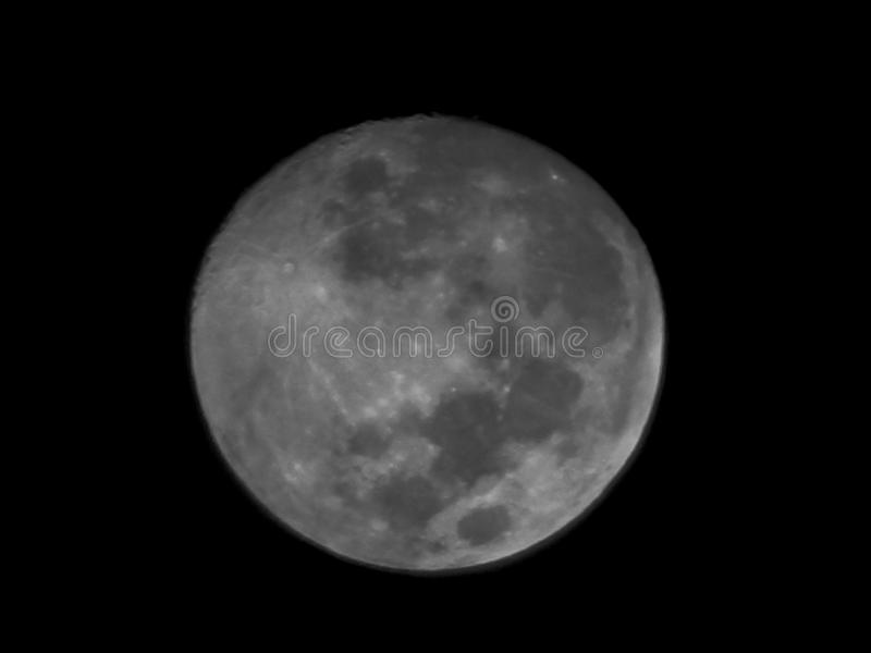 Lune noire et blanche photo libre de droits