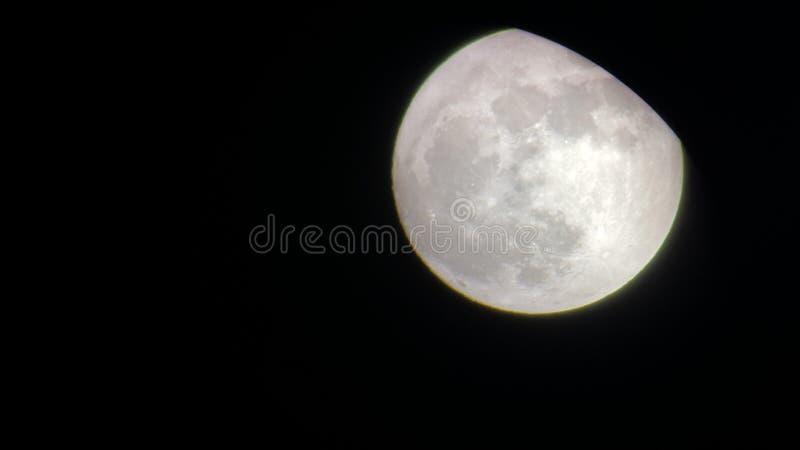 Lune, nuit, rougeoyer, beau, calme images libres de droits