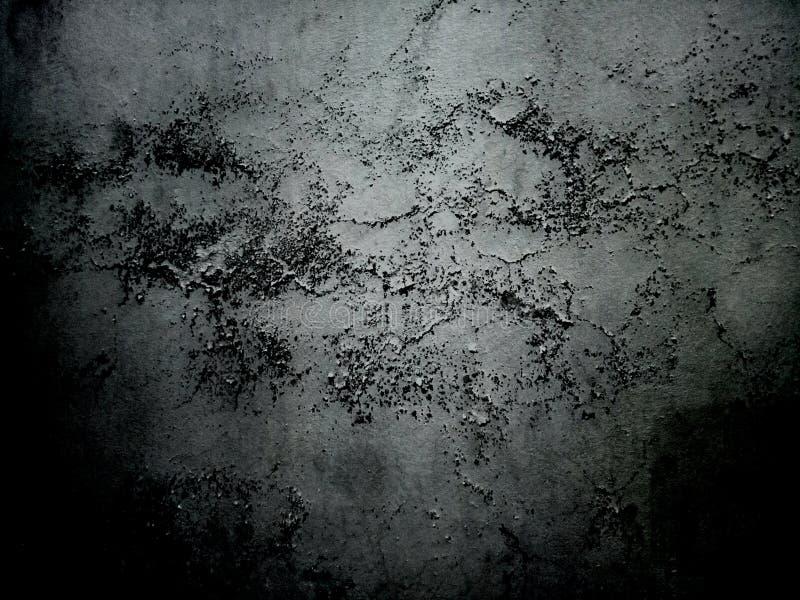 Lune ombragée par planète texturisée noire foncée de sphère de fond de mur de cru photographie stock