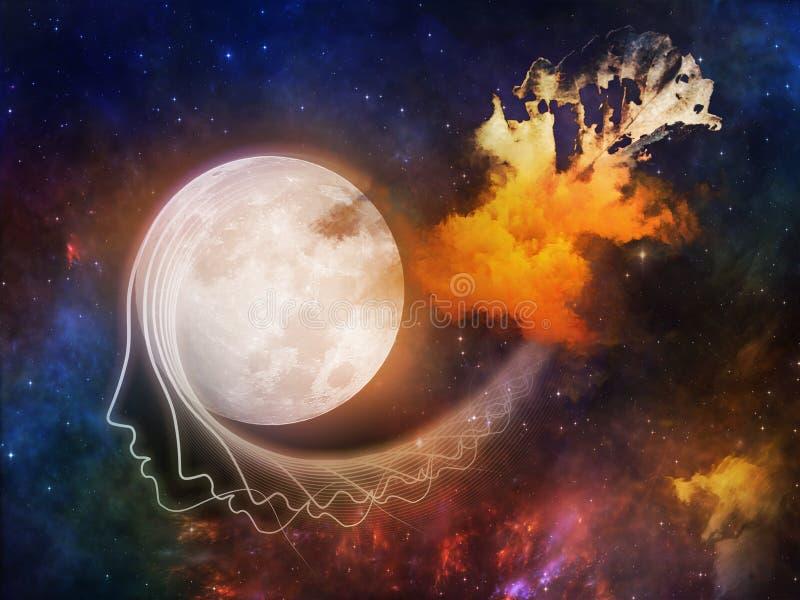 Lune oubliée illustration de vecteur