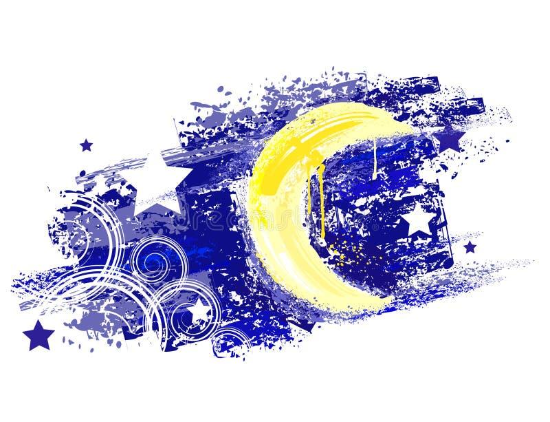 Lune peinte illustration de vecteur