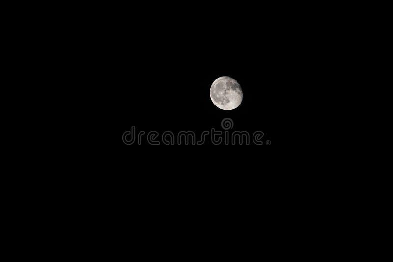 Lune presque pleine D'isolement photo stock