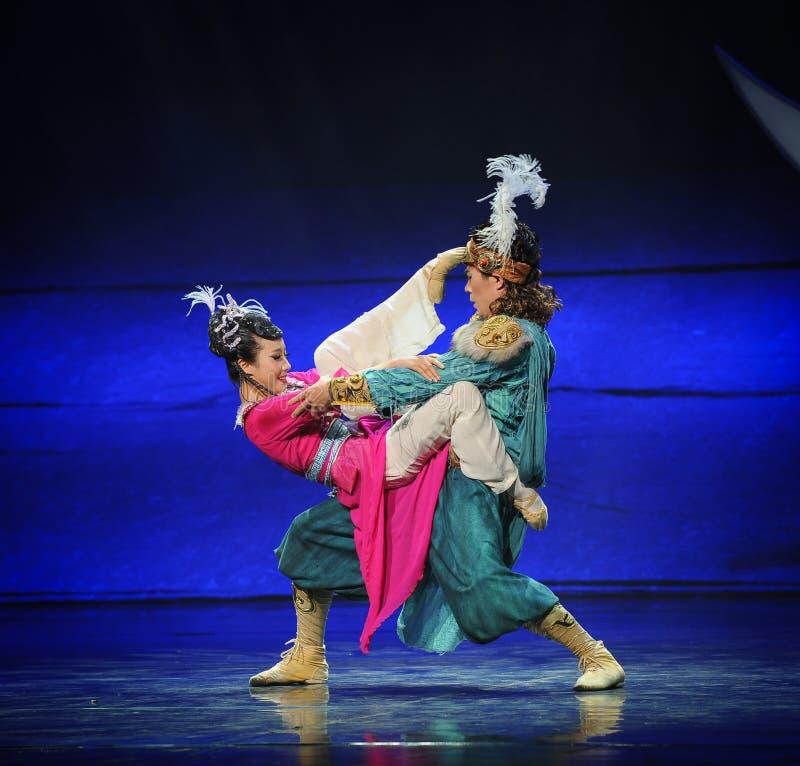 Lune prolongée-Hui de ballet au-dessus de Helan photos libres de droits