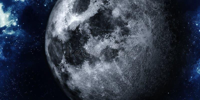 Lune réaliste illustration stock