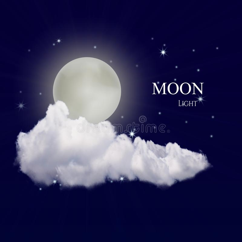 Lune réaliste de vecteur illustration libre de droits
