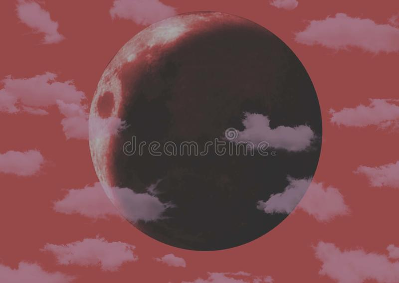 Lune rouge photo libre de droits