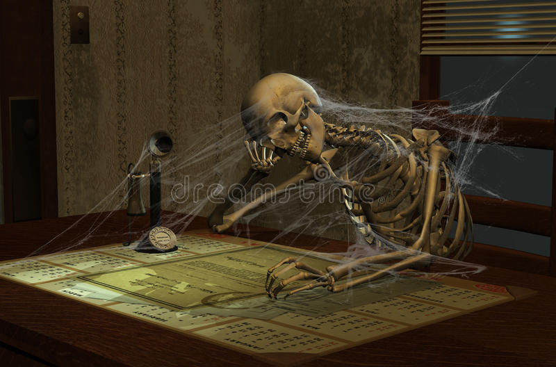 Lune squelettique illustration stock