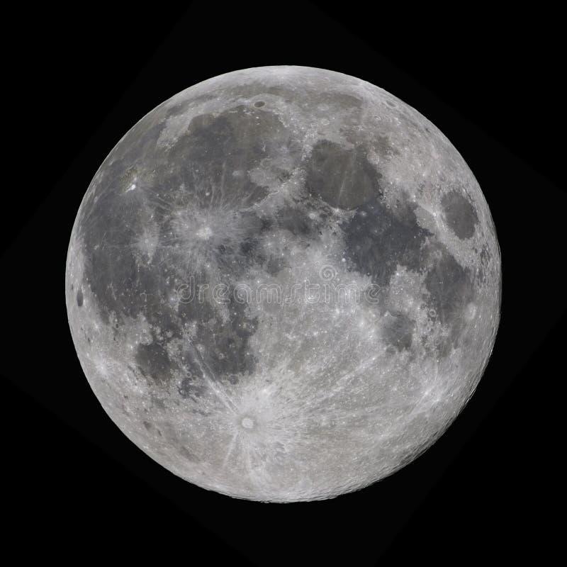 Lune superbe prise avec un télescope photos stock