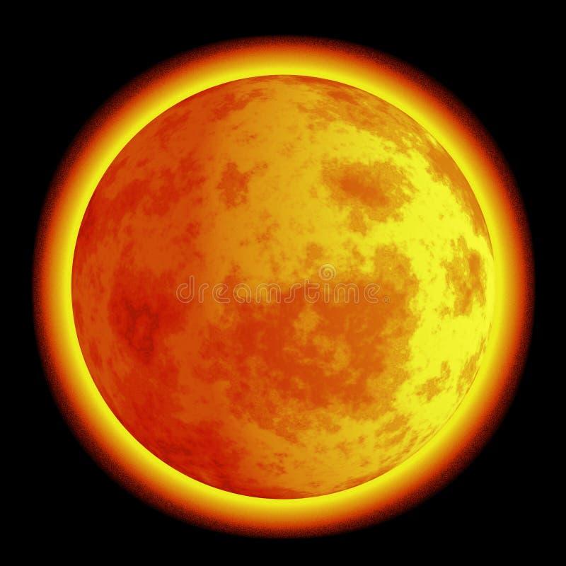Lune sur l'incendie illustration de vecteur