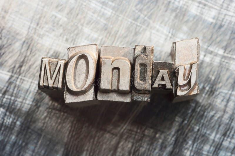 Lunedì fotografie stock libere da diritti