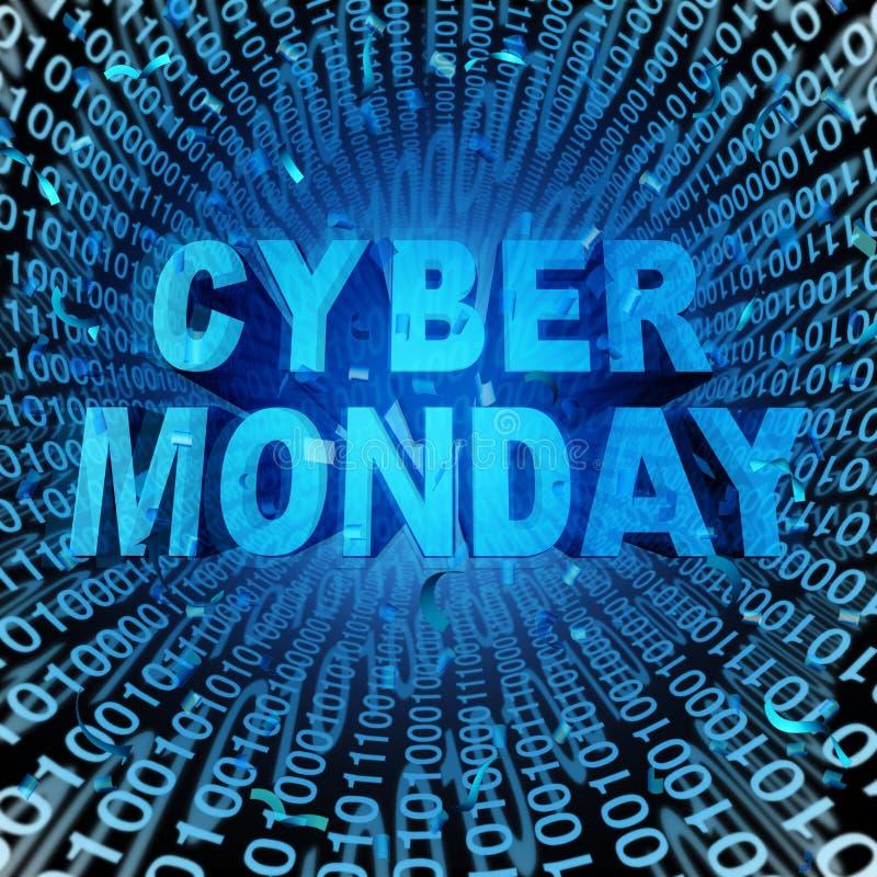 Lunedì cyber royalty illustrazione gratis