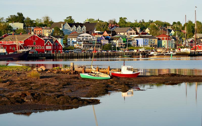 Lunenburg Nova Scotia fotografia stock libera da diritti