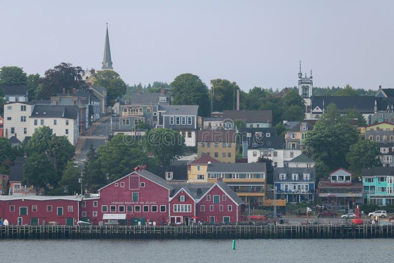 Lunenburg Waterfront Illustration In Nova Scotia Stock Photo - Download  Image Now - iStock