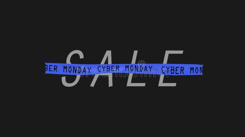 Lunes cibernético, compras en línea de Internet del negocio de la venta del concepto stock de ilustración