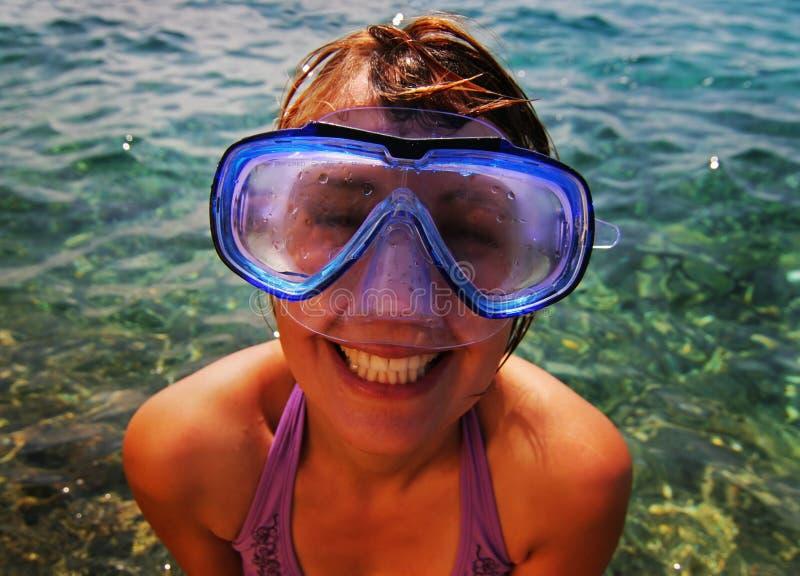 Lunettes de plongée image libre de droits