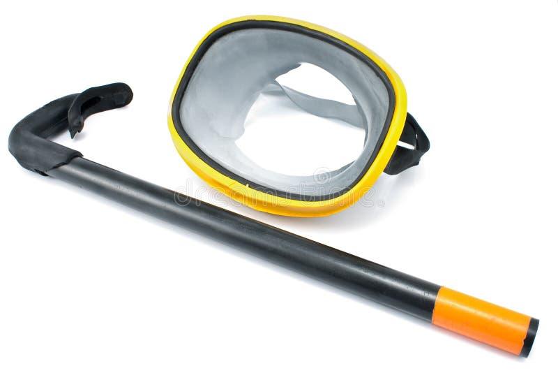 Lunettes de plongée avec la prise d'air photographie stock