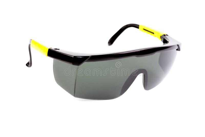 Lunettes de sécurité de lunettes de soleil sur le fond blanc photos libres de droits