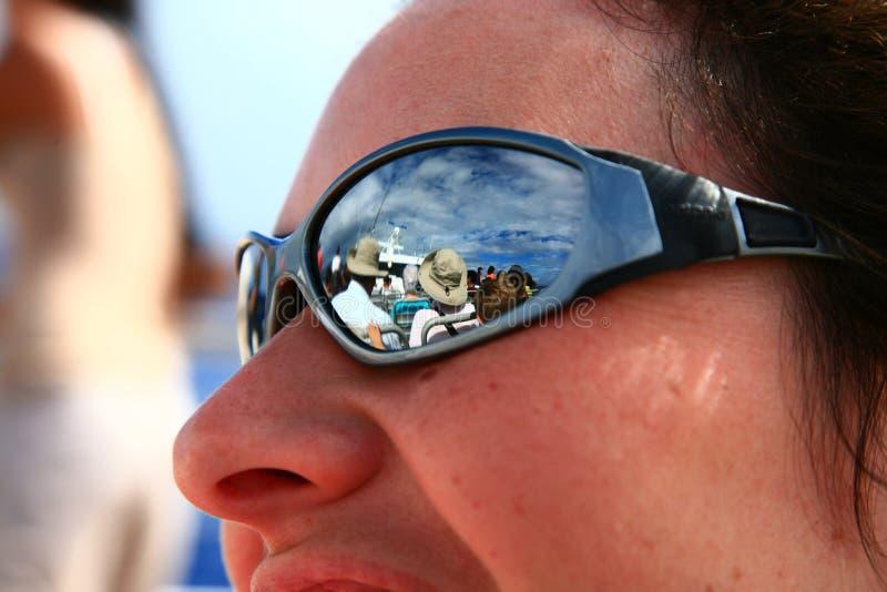 Lunettes de soleil de miroir photos libres de droits