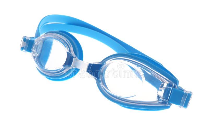 Lunettes modernes bleues de bain images libres de droits