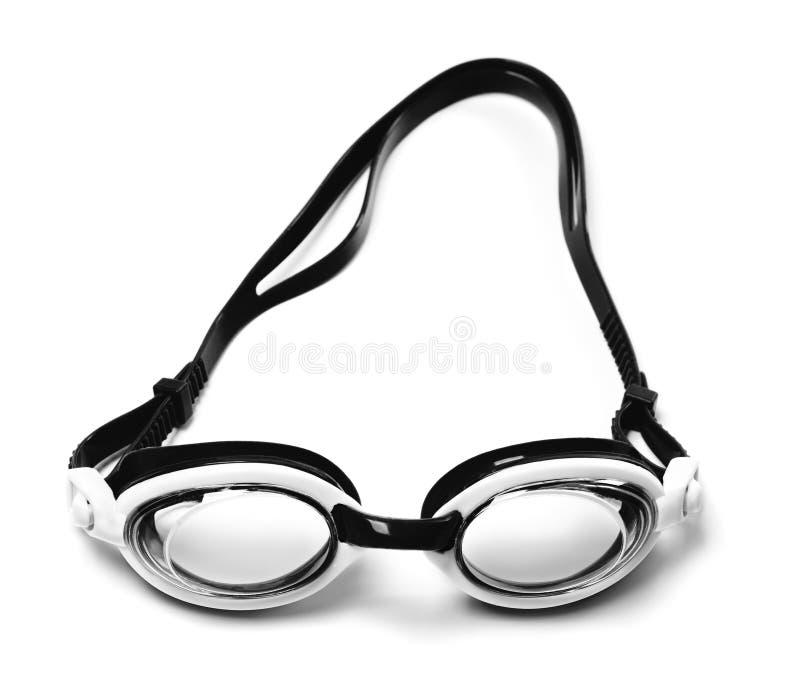 Lunettes noires et blanches pour la natation photos libres de droits