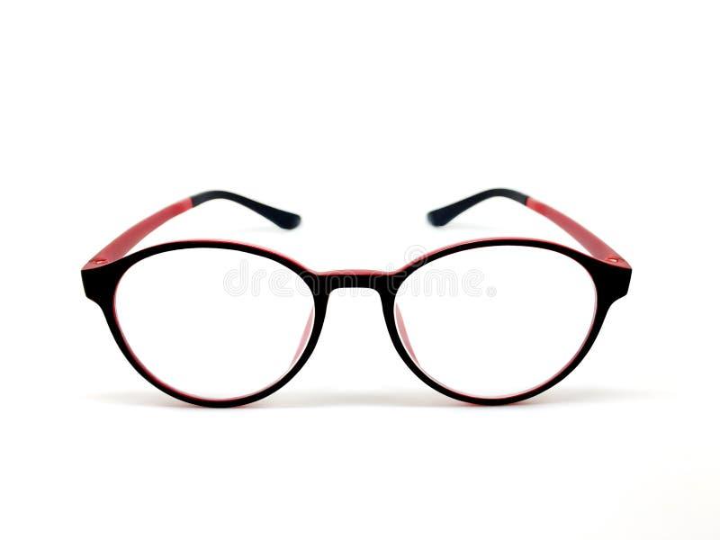 lunettes Rouge-noires de couleur pour les icônes modèles sur le fond blanc photos stock