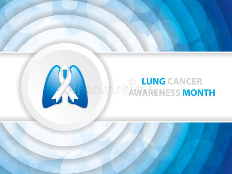 Lung Cancer Awareness Month Background vector illustratie