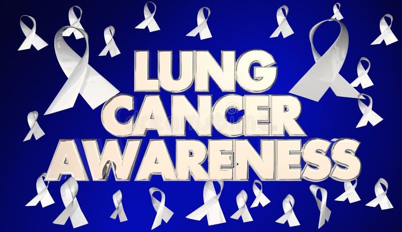 Lung Cancer Awareness Ribbons Disease fond - raiser 3d Illustratio stock illustrationer