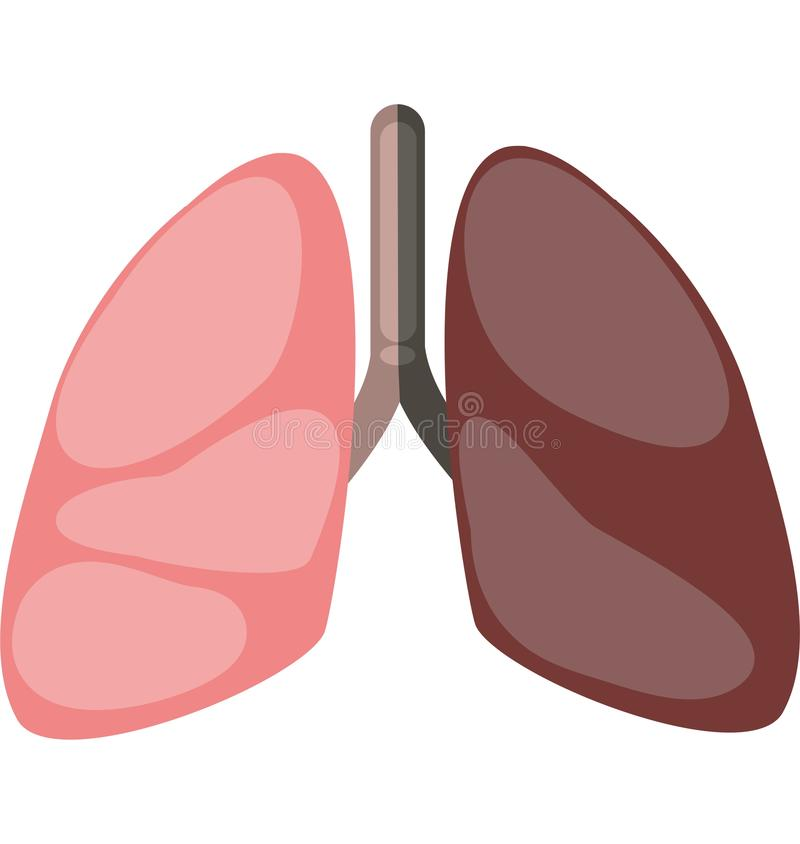 Smoking causes lung cancer royalty free illustration