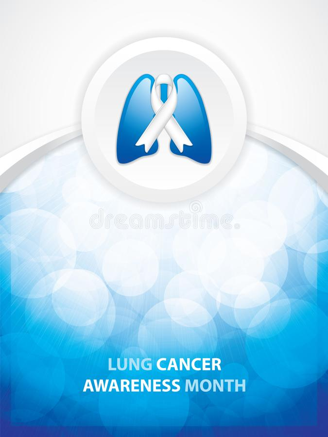 Lung Cancer symbol. Lung Cancer Awareness Month Background. Ribbon in the lungs, vector illustration vector illustration