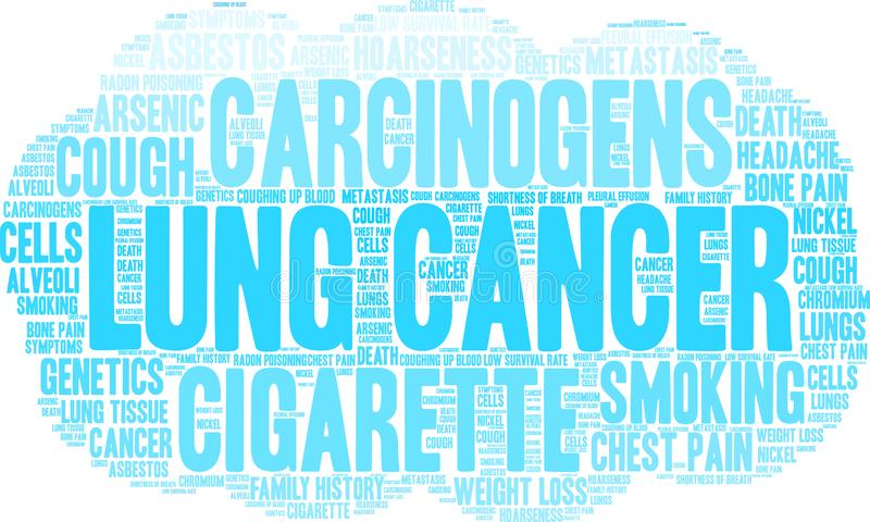 Lung Cancer Word Cloud vektor illustrationer