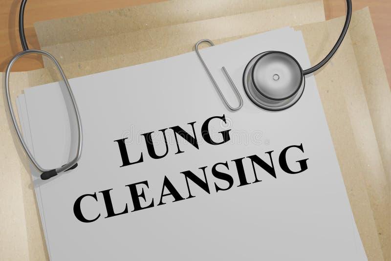 Lung Cleansing - medisch concept stock illustratie