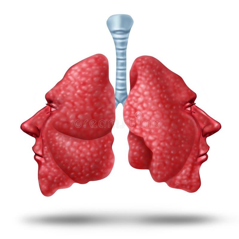 Lung Health de compréhension illustration stock