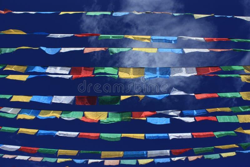Lung Ta (Prayer Flags) stock photos