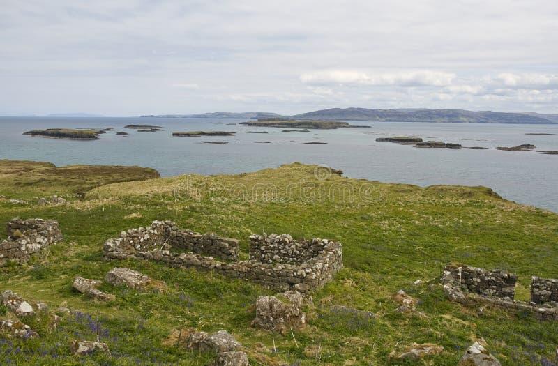 Lunga, острова Treshnish стоковое фото rf