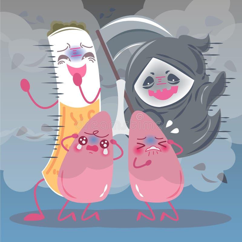 Lunga med vård- begrepp royaltyfri illustrationer