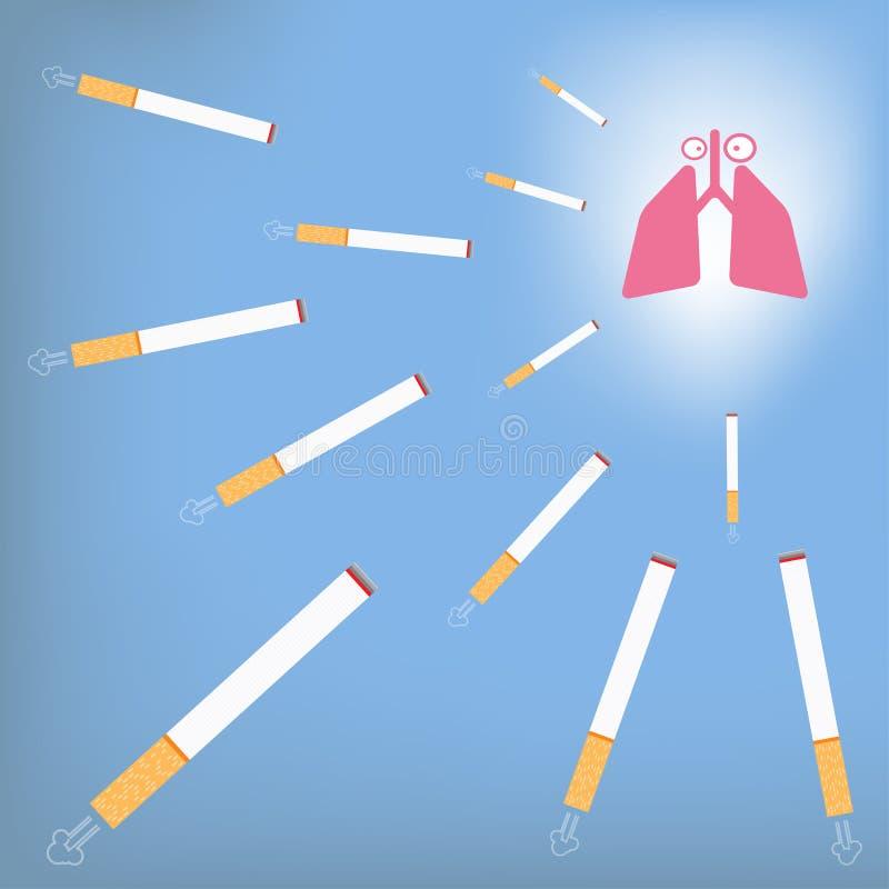 Lunga och cigarett vektor illustrationer