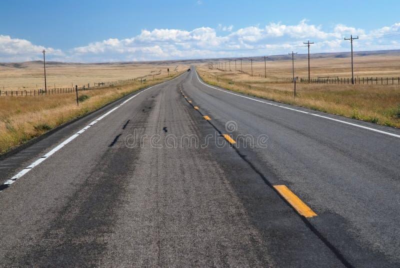 Strada nel Montana, U.S.A. immagini stock