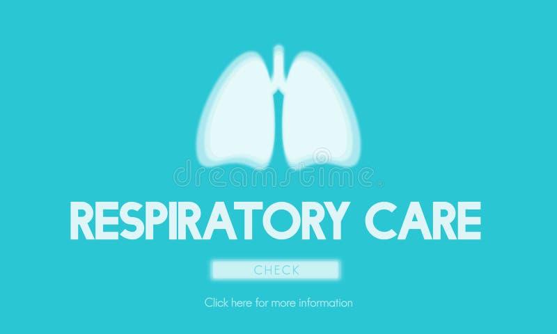 Lunge-Medizin-Pneumonie-Asthma-Bronchitis-Konzept vektor abbildung
