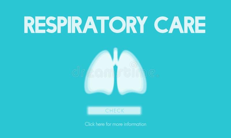 Lunge-Medizin-Pneumonie-Asthma-Bronchitis-Konzept lizenzfreie abbildung
