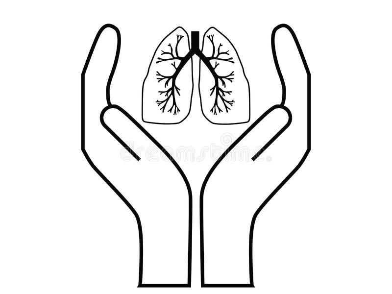 Lungenflügelsorgfalt stock abbildung