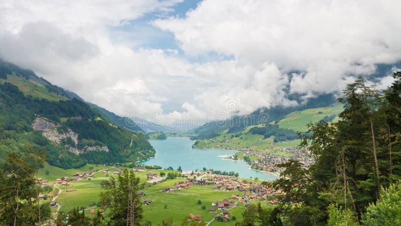 lungerersee obwalden风景瑞士瑞士 免版税图库摄影